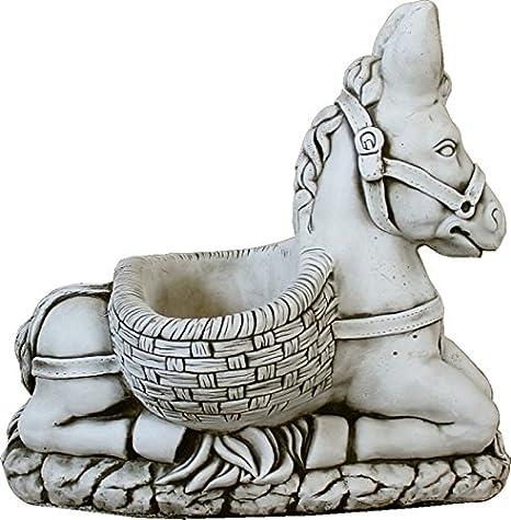 DEGARDEN AnaParra Figura Decorativa Burro de hormigón-Piedra para ...