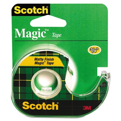 Magic Tape w/Refillable Dispenser, 3/4'' x 650'', Clear