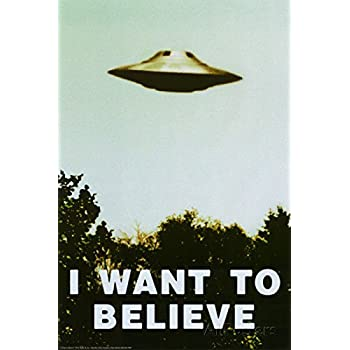 Amazoncom 24x36 The XFiles I Want To Believe TVX Files I Want To Believe Poster