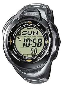 Casio PRW-1200T-7VER - Reloj digital unisex de cuarzo con correa de titanio plateada (altímetro, solar, alarma, brújula y GPS) - sumergible a 100 metros
