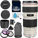Canon EF 70-200mm f/4L USM Telephoto Zoom Lens Bundle for Canon SLR Digital Cameras Intl Model - Advanced