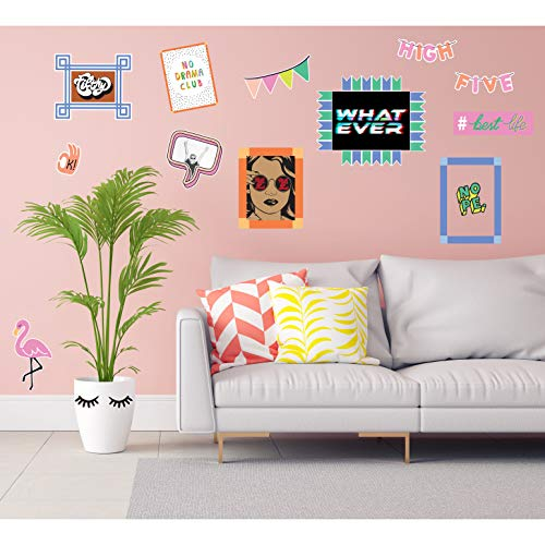 Wallies Peel and Stick 'Capture the Moment' Vinyl Wall Stickers for Girls, 18pc
