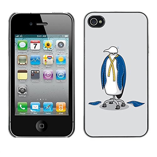 Funny Penguin Suit - For Apple iPhone 4 / 4S