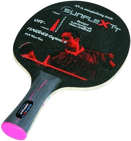 Sunflex Tischtennisholz Wettkampfholz Martinez Explorer II Off - Madera para Palas de Ping Pong, Color Negro/Gris