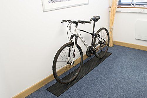 Indoor Rubber Bike Cycle Floor Protector Mat, Black (Rubber Bike Mat)
