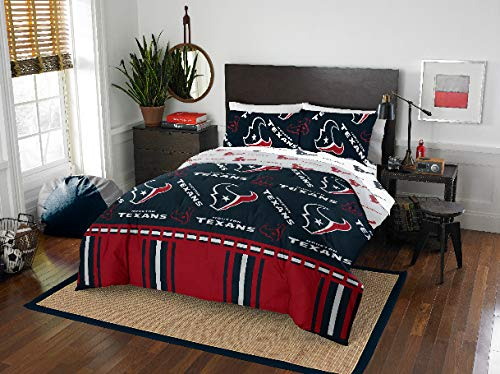 Houston Texans Queen Comforter & Sheets, 5 Piece NFL Bedding, New! + Homemade Wax Melts (Houston Texans Sheet Set)