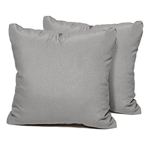 TK Classics Square Outdoor Throw Pillows, Set of 2, Grey