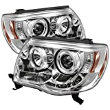 Spyder Auto PRO-YD-TT05-HL-C Toyota Tacoma Chrome Halo LED Projector Headlight with Replaceable LEDs