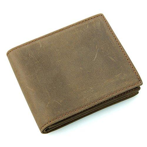 Italian Leather Coat Pocket Wallet - Men's Genuine Leather RFID Blocking Vintage Italian Slim Bifold Wallet Handmade