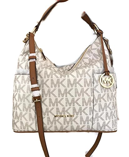 Michael Kors Anita Large Convertible Shoulder Bag (Vanilla) by Michael Kors