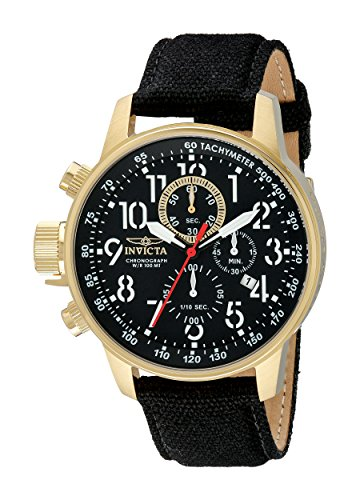 invicta-mens-1515-i-force-collection-18k-gold-ion-plated-watch-with-black-cloth-covered-band