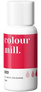 Colour Mill Oil-Based Food Coloring, 20 Milliliters Red