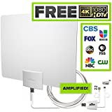 Mohu Leaf 50 TV Antenna, Indoor, Amplified, 60 Mile Range, Original Paper-thin, Reversible, Paintable, 4K-Ready HDTV, 16 Foot Detachable Cable, Premium Materials for Performance, USA Made, MH-110599