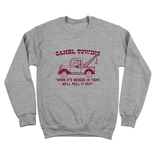 Funny Threads Outlet Camel Towing Company Crewneck Sweatshirt Gray 4X-Large