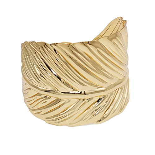 Leaf Bracelet Cuff (JSEA Open End Gold Leaf Arm Bracelets Bangle Cuff Bangle Bracelet Women Girls (wrist bangle))