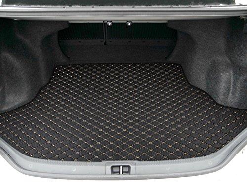 pm801 black leatherette trunk mat cargo liner