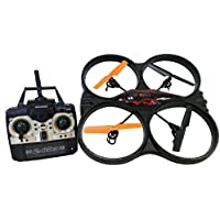 Rockn RC 8660 Remote Control Stunt Master Quad Copter, Black