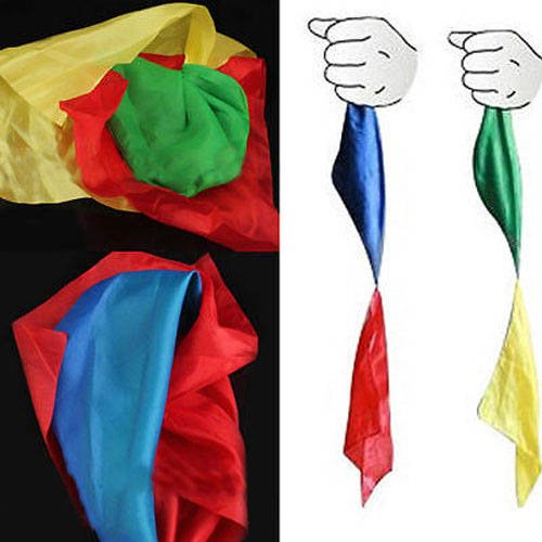 S Cloth Change Color Silk Scarf For Magic Trick Props Magic Tools Toys Practical