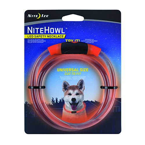 Nite Ize NiteHowl LED Dog Light Collar Safety Necklace - Orange