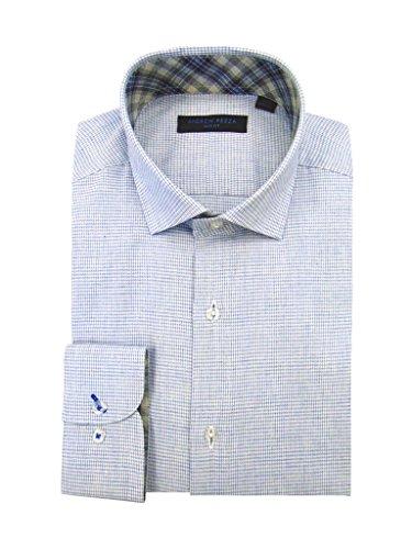 Andrew Fezza 70872 Slim Fit Dress Shirt - Denim - - Denim Spread Shirt Collar