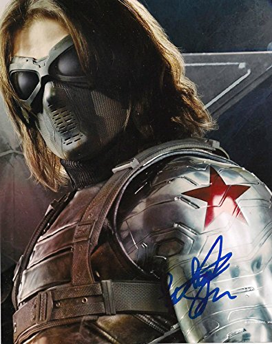 Barnes Signed (SEBASTIAN STAN - Captain America : The Winter Soldier - Signed 8x10 inch REPRINT Photograph =)