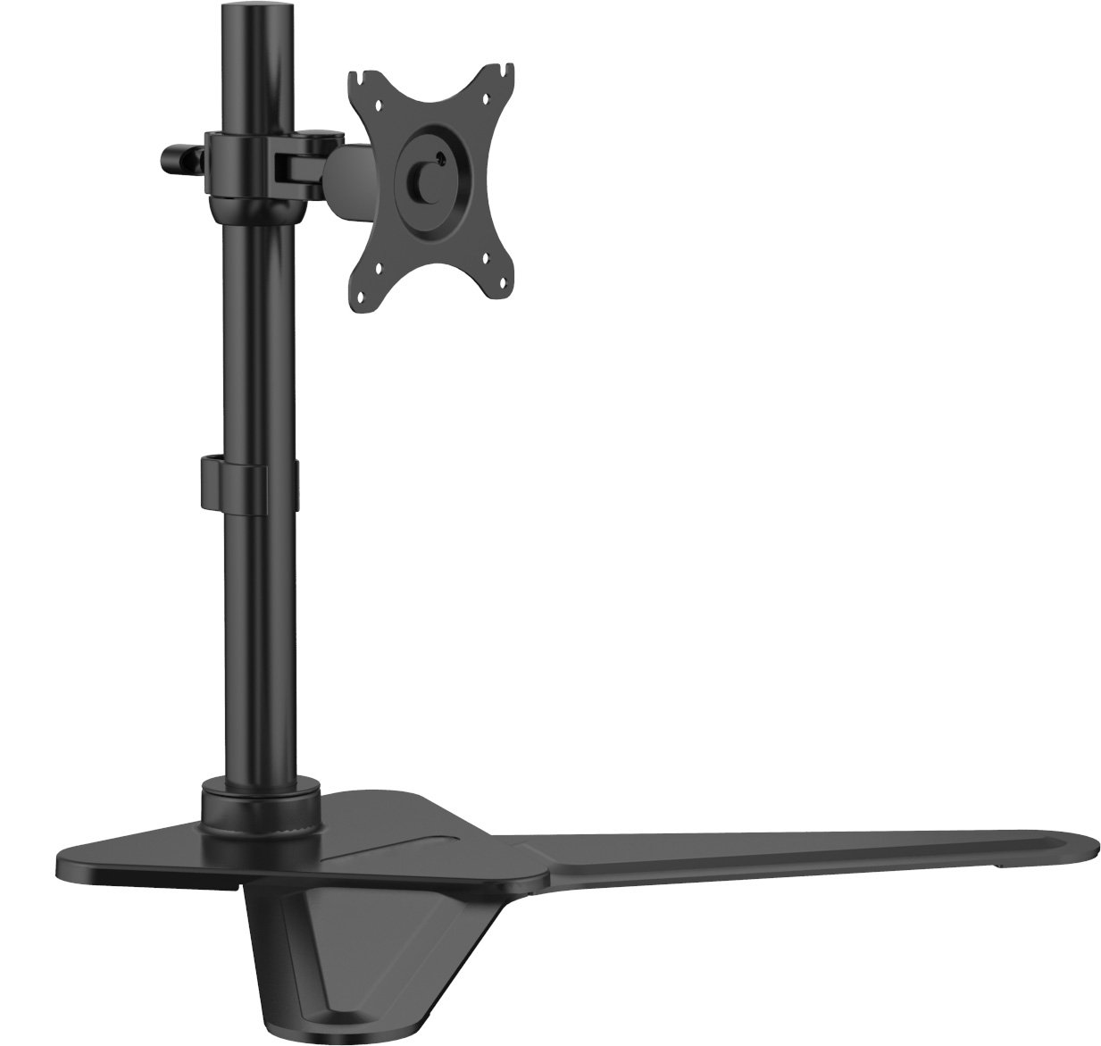 Xtrempro Free Standing Single Monitor Mount LCD LED Desk for 10'' - 30'' Computer Screen, Height Adjustable, Tilt -85° ~ +15°, ±180° Rotation, VESA 75 x 75, 100 x 100, 44Lbs Capacity – Black (41106)