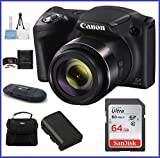 Canon PowerShot SX420 IS Digital Camera [Black] 64GB Pro Bundle, Includes 64GB SDXC Class 10 Memory Card, Spare Battery, Small Camera Bag and more … Review