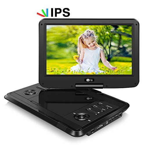 CUTRIP 11.6 Inch HD Portable DVD Player IPS Screen with Rech
