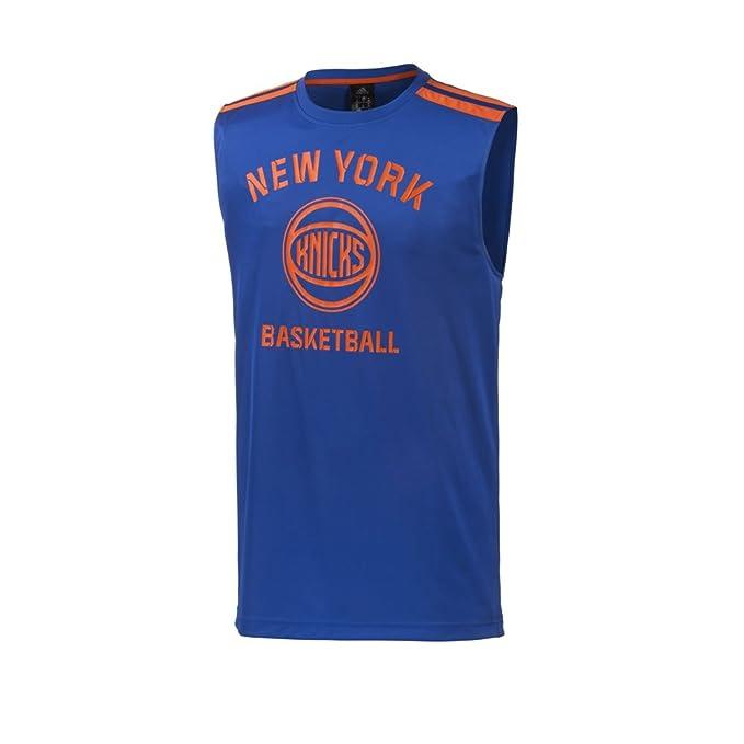 Adidas NBA Baloncesto Jersey New York Knicks Hombre Azul / Naranja - Azul Real, X