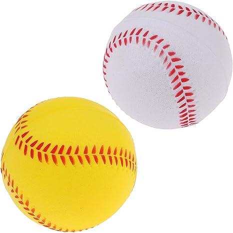 IPOTCH Pack de 2 Bolas de Sóftbol 7cm de PU de Calidad, Pelotas Útiles Seguras para Práctica Entrenamiento de Béisbol para Niños: Amazon.es: Deportes y aire libre