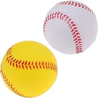 P Prettyia 2 x Balles De Formation De Baseball/Softball en PU Jeu De Sport d'Équipe