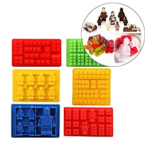 Gwogo Minifigure Silicone Ice Tray Candy Chocolate Mold - 6 Pcs
