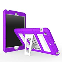 iPad Mini 1 / 2 / 3 Case, MoKo Silicone + White Hard Polycarbonate Protector with Foldable Stand Cover Case for Mini 3, Mini 2 and Mini (2012 1st gen), PURPLE (Will not fit iPad Mini 4)