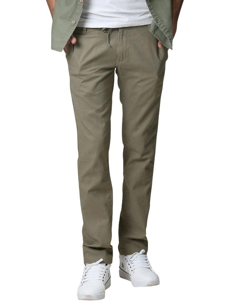 Match Men's Slim Tapered Linen Casual Trouser (30, 8059 R-Green)