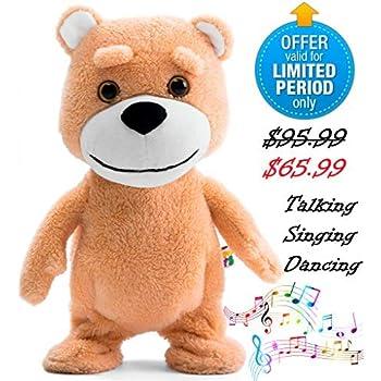 Amazon Com Naujova Teddy Bear Dancing Talking Singing Stuffed