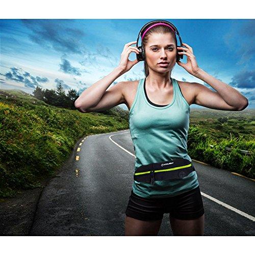 RUNACC Portable Taille Tasche Multi-funktionelle Taille Pack Leichte Taille Tasche, Schwarz und Grün