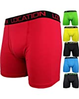 6 Pairs Mens Boxer Shorts Sports Longer Leg Trunks Briefs Adults Underwear New