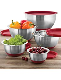 Want Wolfgang Puck 10 PC Stainless Steel Mixing Bowl Set (Red) save