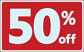Amazon.com : Sale 50% Percent Off Discount Promotion Message Retail Store  Business Sign : Office Products