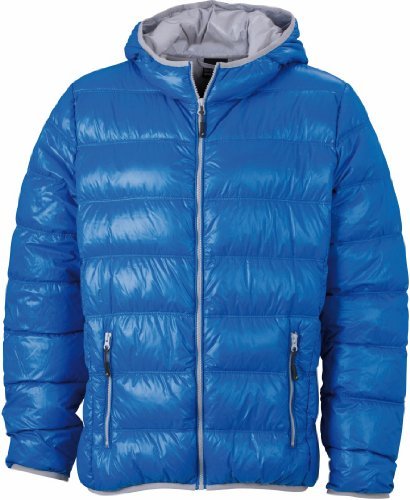 Jacket Nicholson James JN1060 Down amp; SILVER Blue Puffer Mens YxY5SqpnF