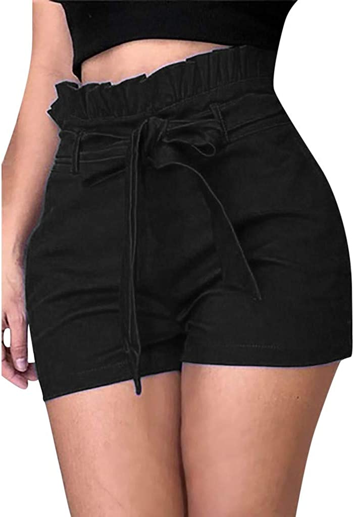 SHOBDW Pantalones de Verano de Moda Pantalones Cortos Deportivos de Las Mujeres Cortos de la Yoga de la Cintura del Entrenamiento de la Cintura Flaca