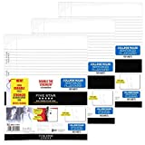 Five Star Filler Paper, College Ruled, Reinforced, Loose Leaf Paper, 11 x 8.5'', 100 Sheets/Pack Pack Of 3