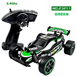 Outsta Radio Remote Control Car,1:20 Scale Car,2.4GHZ 2WD Radio Remote Control Off Road RC GTR Racing Car Truck Vehicle Toy Remote Control Car Electric Cars Truck-Green or Red,Gift for Boys (Green)