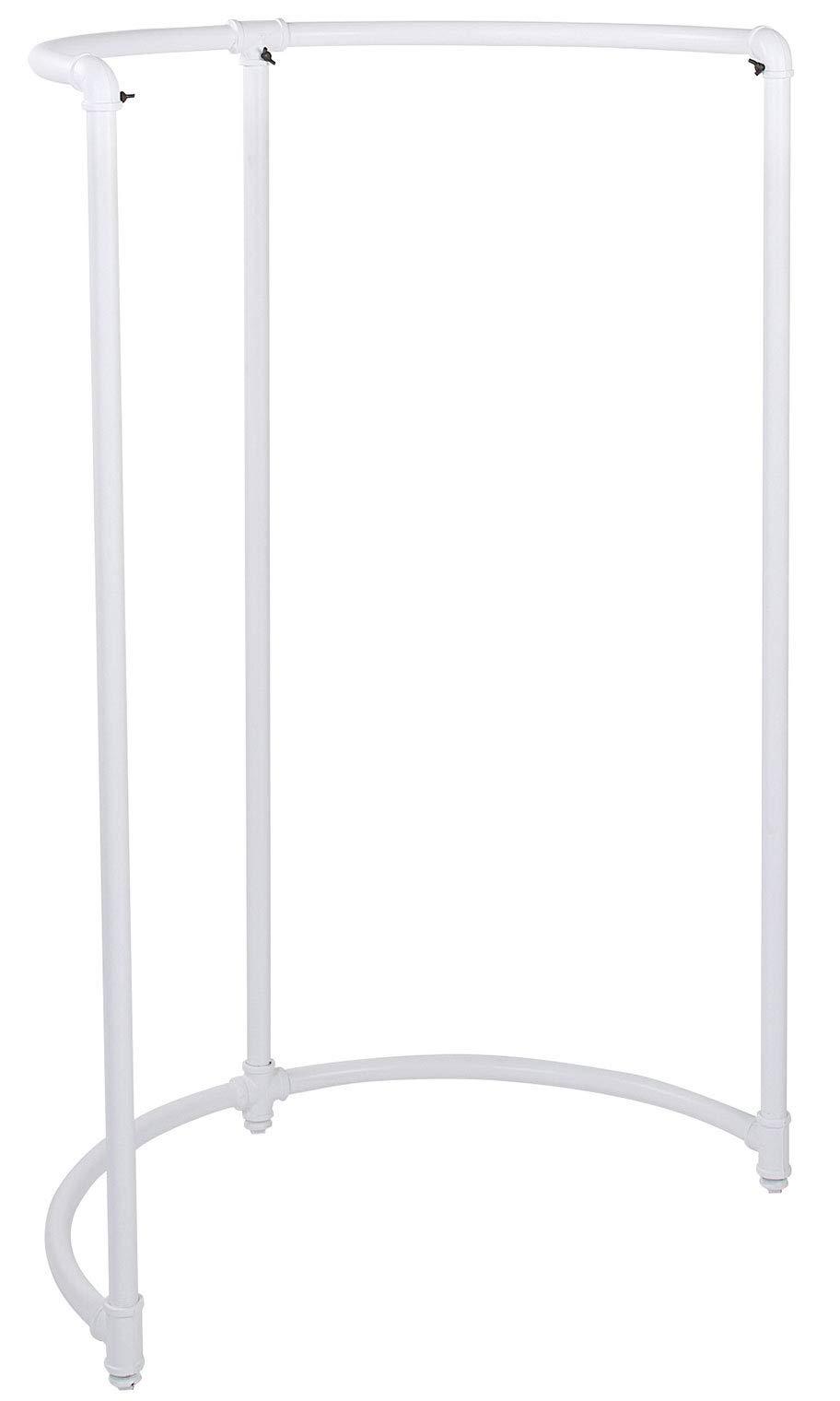 SSWBasics Boutique White Pipe Half Round Clothing Rack - 35''W x 35'''' D x 54''H