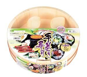 Hangiri Kit de 3 Pearl sushi party hand-rolled sushi