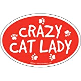 Cheap Prismatix Decal Cat and Dog Magnets, Crazy Cat Lady