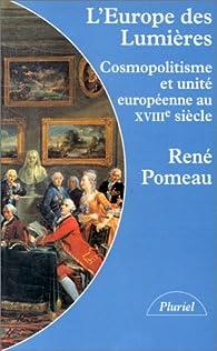 L'Europe des lumières par René Pomeau
