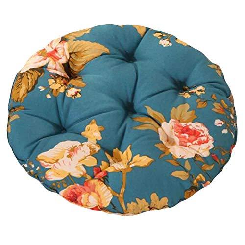 PANDA SUPERSTORE Peony - 40cm Cotton Chair Pad Futon Cushion Floor Round Seat Cushion Tatami