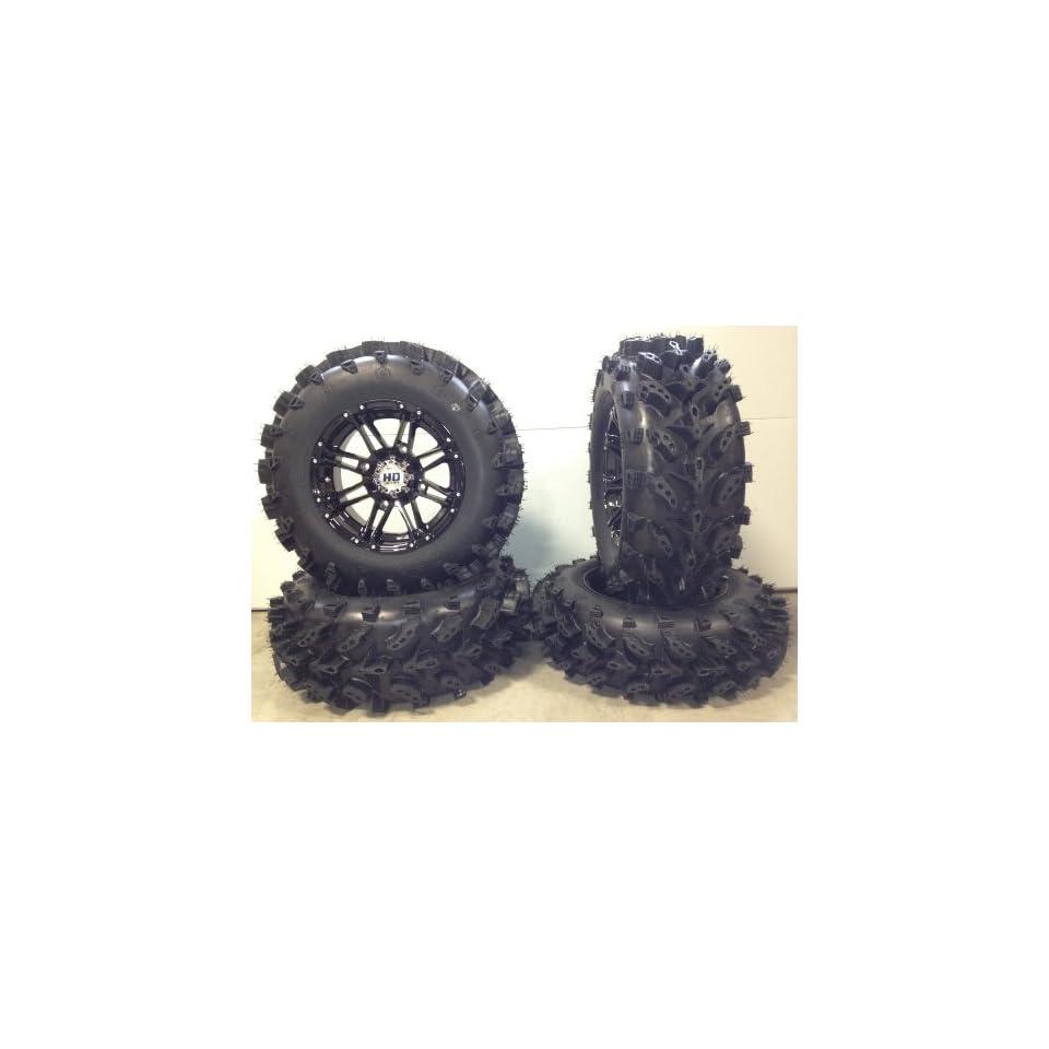 "STI HD3 14"" Wheels Black 28"" Swamp Lite Tires Polaris Sportsman RZR Ranger Automotive"
