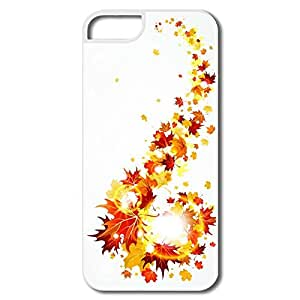 Custom Protective Plastic Anti-Scratch Golden Leaves Iphone 5s Cases